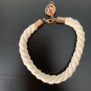 Jewelry - Rope bracelet with Gold Clasp and Anchor